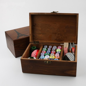 2019 NEW Wood sewing box / sewing kit / wooden sewing / wooden Storage Box/sewing box Exquisite gift фото