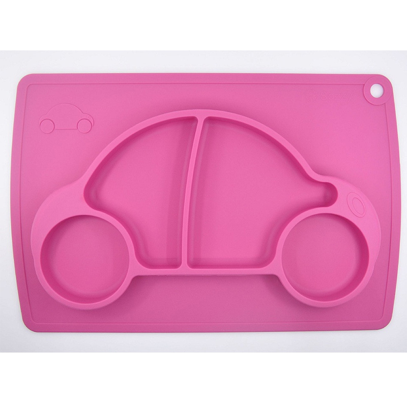 Baby Placemat Plate / Tray Suge mønstre Silikon Placemats for barn - Baby mating - Bilde 4