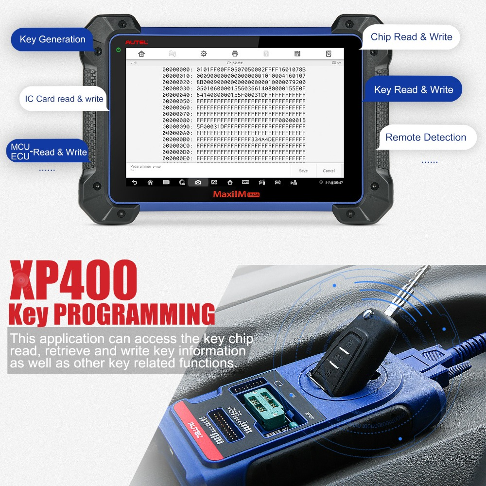 xp400 key programming