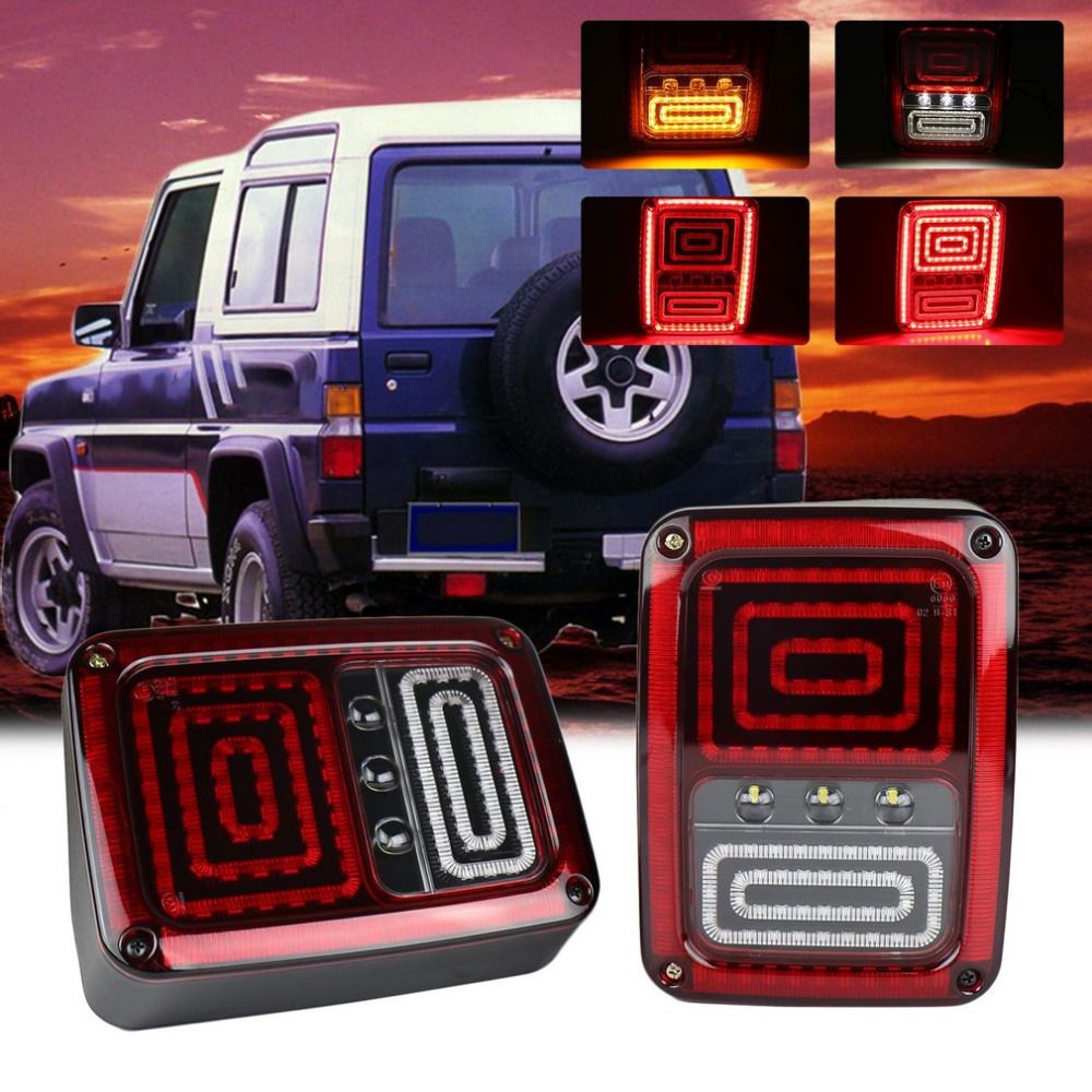 One Pair Car Tail Light Brake Light Turn Signal Lamp Rear Running Lights for Jeep for Wrangler LED Rear Reversing Brake Light modern fashion horizontal striped wall paper roll vertical kids living room bedroom wallpaper wall world