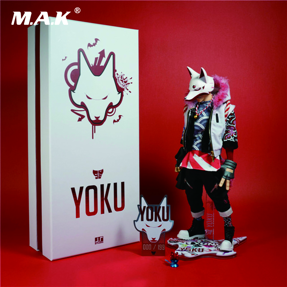 12 Inches J.T Studio Street Mask Yoku Full Set Action Figures Body Head Clothes and Accessories Red Version 12 inches j t studio street mask yoku full set action figures body head clothes and accessories red version