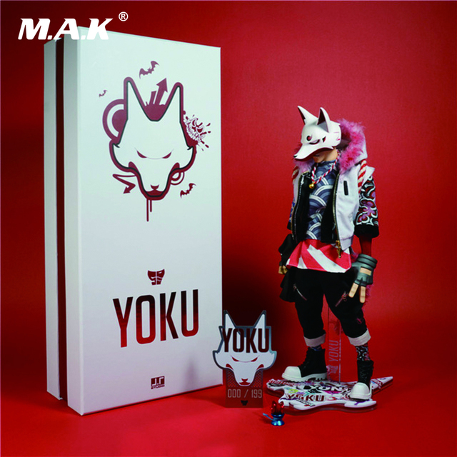 12 Inches J.T Studio Street Mask Yoku Full Set Action Figures Body Head Clothes and Accessories Red Version