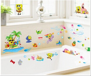 Online Shop Wholesale PCSLOT Spongebob Wallsticker Home - Spongebob room decals