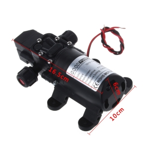 Image 5 - DC 12V 130PSI 6L/Min Water High Pressure Diaphragm Self Priming Pump 70W New