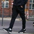 VIISHOW Pants Men Cargo Big Size Black Trouser Hip Hop Pocket Zipper Design Brand Long Trousers Casual Pants KC10863