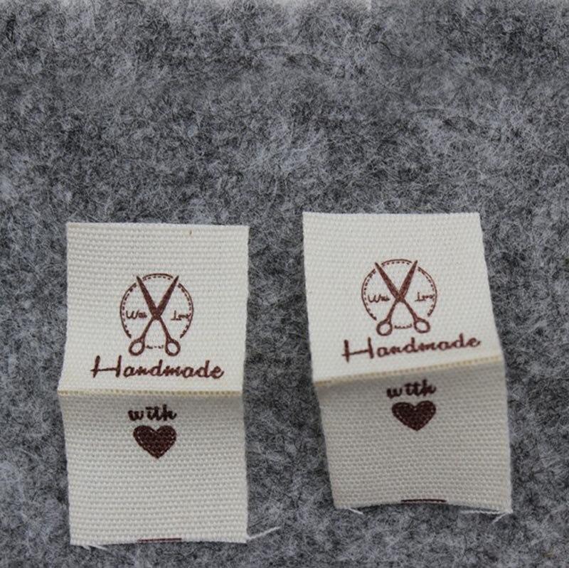 Высокое качество, Детская Хлопковая этикетка,, этикетка «сделай сам» ручной работы с надписью «love» - Цвет: fols scissors