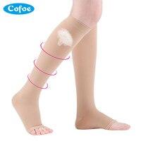 A Pair Medical Varicose Veins Socks 15 21mmHg Pressure Level 1 Medical Calf Peep To Socks