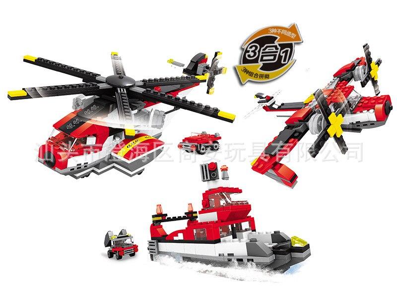 Модель Строительство комплекты Совместимость с LEGO City Военная Униформа вертолеты кора ...