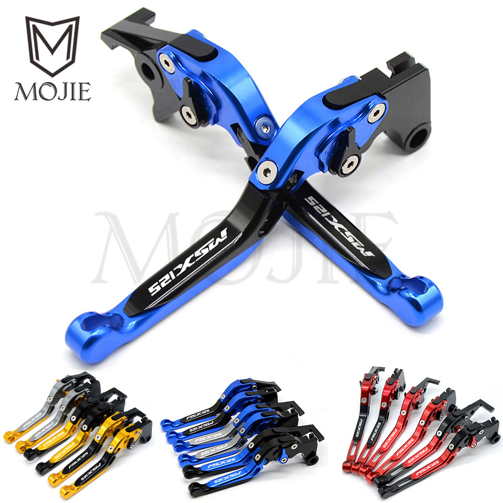 Motorcycle Accessories Motor CNC Adjustable Folding Brake Clutch Levers For Honda GROM MSX 125 MSX125 GROM 2014 2017 2016 2015-in Brake Disks from Automobiles & Motorcycles    1