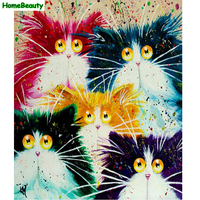 Home Beauty Painting Calligraphy Decorative Diy Canvas Picture By Numbers Cartoon Coloring Drawing By Number Cats