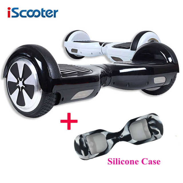 Cheap Hoverboard iScooter Electric Skateboard Self Balancing 2 Smart 6.5 inch Wheel UL2272 Scooter With Silicone Case Christmas Gift