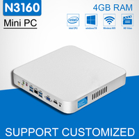 Intel Core CPU Mini PC N3160 Quad Cores Mini Desktop Computer With Fanless Windows 10 DDR3