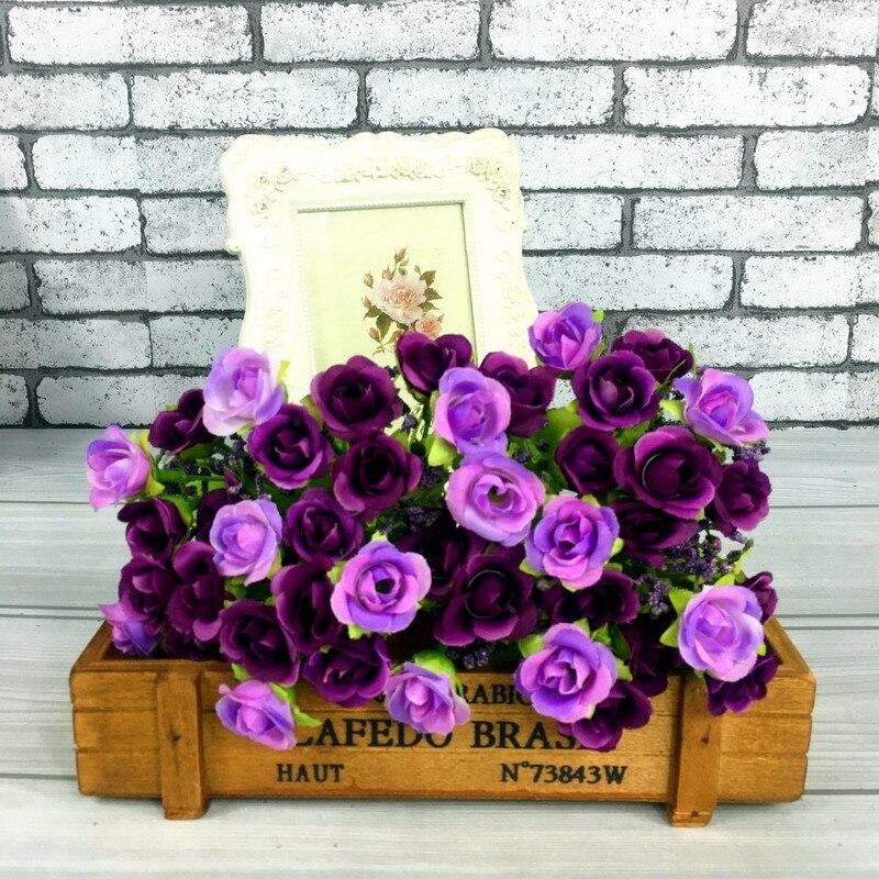 1 X Bouquet Artificial Rose Flores Decorativas Fake Flor De Seda Decoración Del