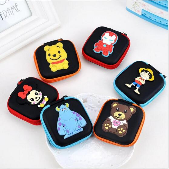Cartoon Series Batmen Big Hero Mini Square Rectangle Change Purse Earphone Pouch Case #1017 Coin Purse Gift Pouch For Girls Boys