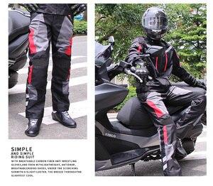 Image 5 - Riding Tribe pantalones de moto para hombre protección de conducción anticolisión con rodilleras HP 12, temporada completa, verano e invierno