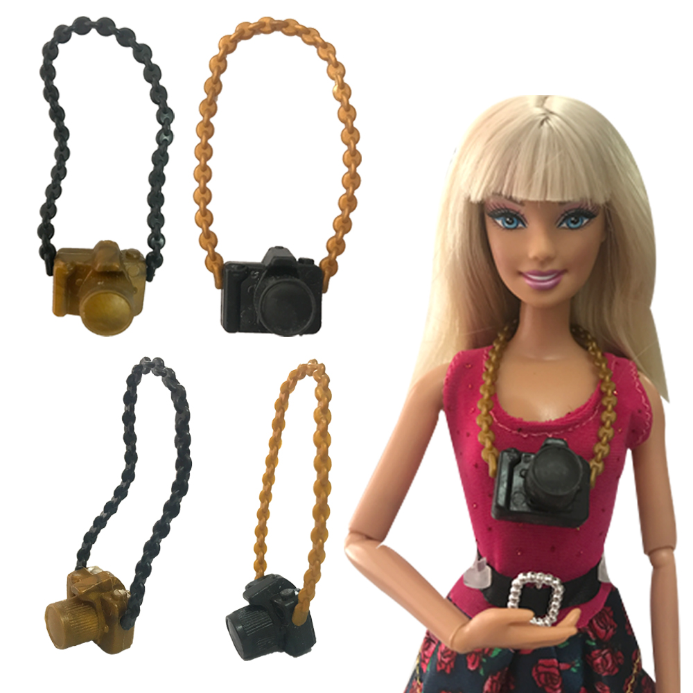 NK 3 Pcs/Set New Fashion Doll Accessories Plastic Camera For Barbie Doll DIY Camera 038A image