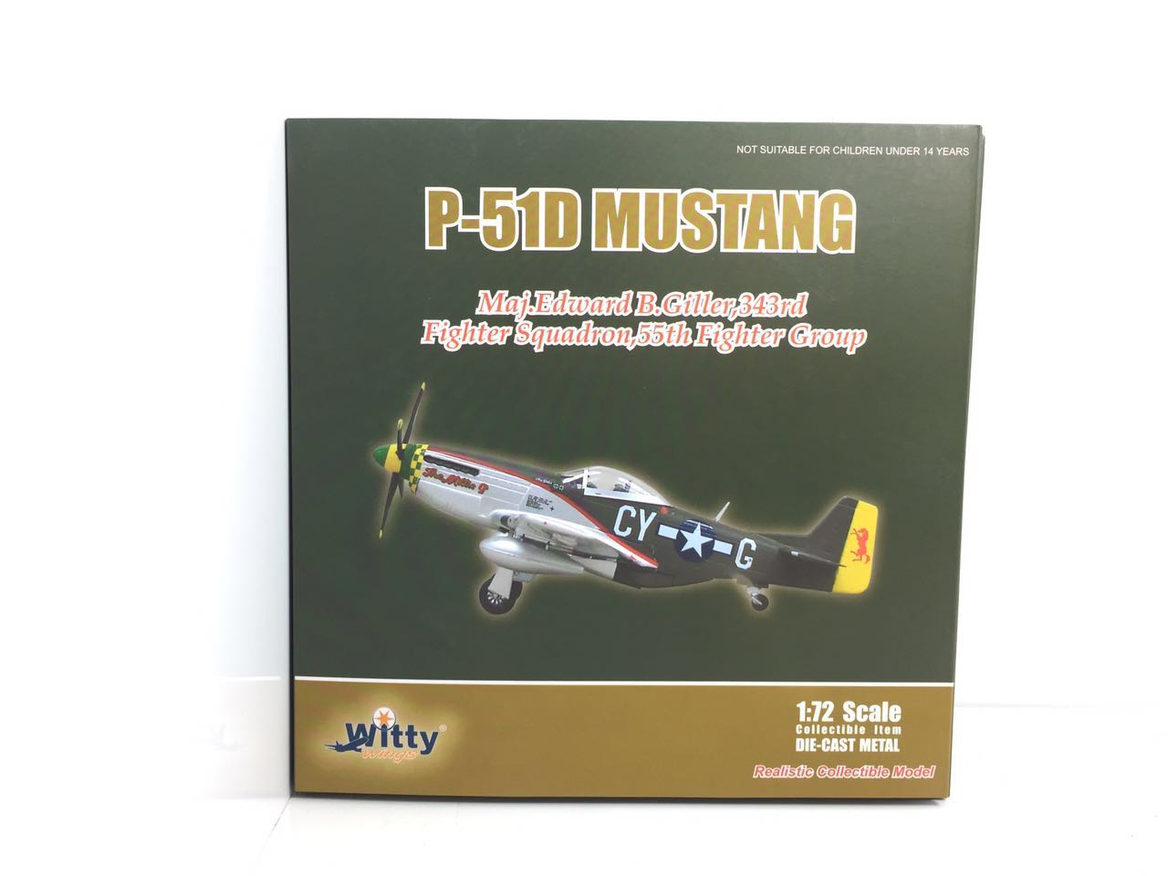 004-025 P-51D Witty fighter aircraft, the United States Air Force 1:72 Finished Model