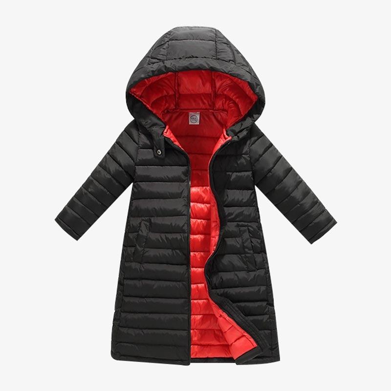 BOTEZAI Padded Jacket Parka Overcoat Kids Clothing Hooded Girls Cotton Children Autumn
