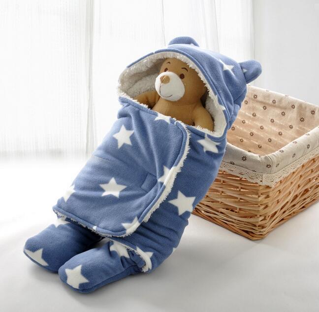 0-18M újszülött swaddle wrap puha gyapjú csecsemő újszülött swaddle takaró és baby Wrap takaró puha flanel Sleepsack
