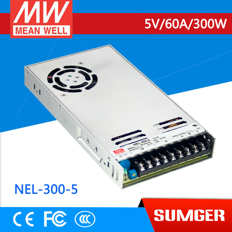 [NC-C] MEAN WELL original NEL-300-5 5V 60A meanwell NEL-300 5V 300W Single Output Switching Power Supply аксессуар nel hunter 12 5x8 5 для whites prizm 3 4 5 6 coinmaster катушка