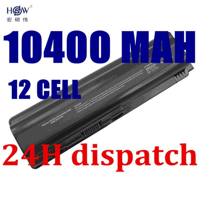 HSW 10400 mah batteria akku Pour HP Pavilion DV6 DV5 DV4 G50 G60 G70 G71 Pour Compaq CQ40 CQ50 CQ60 CQ61 CQ70 Ordinateur Portable Batteries akku
