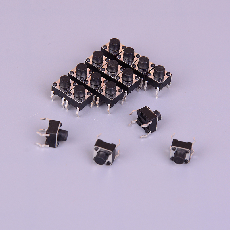 Lighting Accessories Lights & Lighting 50pcs/lot 4 Pins 6*6*6mm Round Pushbutton Smd Smt Momentary Tactile Switch Micro Switch Wholesale High Quality Delicacies Loved By All