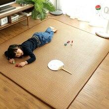 Японский татами-ковер, летний крутой толстый ротанговый коврик, тростниковый ковер, ковер для гостиной и спальни, детский игровой коврик на ...