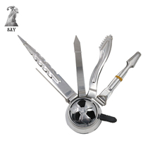 SY 1pc Metal Shisha Hookah Charcoal Tongs Tweezers and Holder For Sheesha Chicha Narguile Accessories