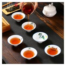 1 Pcs Chinese Ceramic Teacup Blue And White Porcelain Kung Fu Tea Set Drinkware Retro Cup Gaiwan Creative Gifts