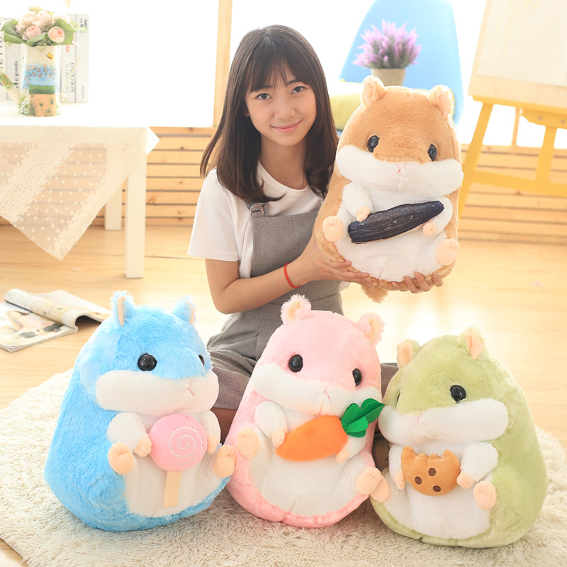 Super Cute Hamster Plush Toy Giant Stuffed Animal Doll Children Soft Toy Kids Gift children s pillow toys fat hamster doll plush guinea pig toy super cute good quality genuine
