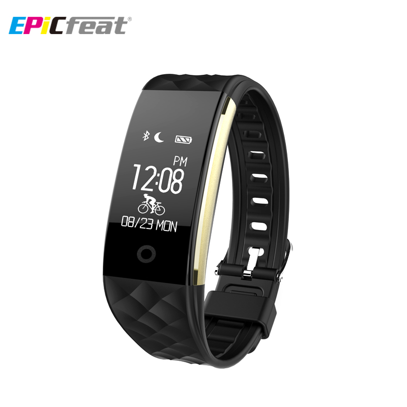EPiCfeat Pedometer Sleep Tracker Heart Rate Smart Wristband Sport Health Bluetooth Remote Control Waterproof Smart Watch