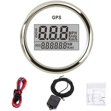 52mm digital car speedometers GPS Speedometer odometer LCD display waterproof Car speed meter For Boat with backlight 12V 24V blue backlight 52mm gps speedometer gauge odometer battery meter digital dash 12v 24v mph kmh for car truck boat motorcycle
