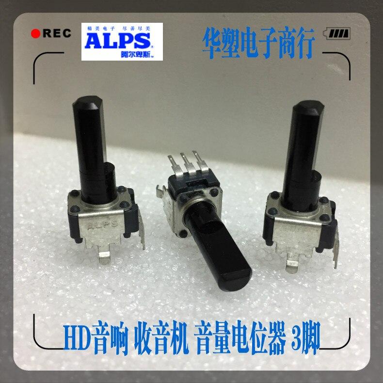 все цены на 2pcs/lot RK09K1130AH1 ALPS switch RK09 type keyboard audio volume potentiometer adjustment knob B10K 3 Pin handle length 25mm онлайн