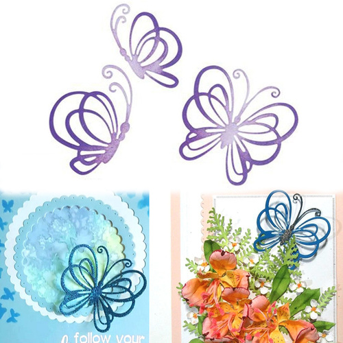 3pcs Butterflies Dies Metal Cutting Dies Scrapbooking Card Making Album Embossing Crafts Paper Stencil Animal Dies