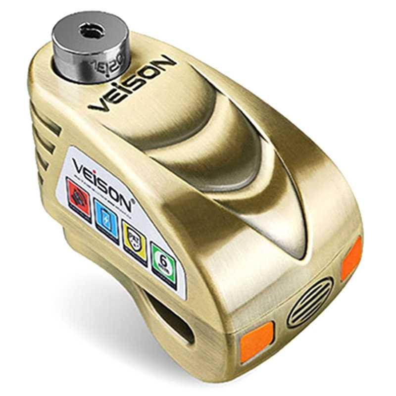 Veison Keamanan Sepeda Motor Rem Cakram Alarm Anti Pencurian Sepeda Gembok Rem Kunci Cakram Sepeda Peringatan Tahan Air Skuter Lo
