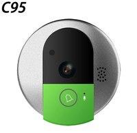 Vstarcam Wireless Door Bell HD 720P Two Way Audio Night Vision Wide Angle Video WiFi Security Doorbell Camera C95/C95 TZ