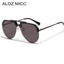 ALOZ MICC Fashion Women Rimless Sunglasses Men 2019 Brand Design Oversized Vintage Shades Goggles Eyewear Q522