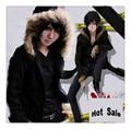 New Free Shipping Anime Durarara Izaya Orihara Cosplay Costume Jacket Unisex Jacket Hooded Thicken Cotton-Padded Clothes Coat