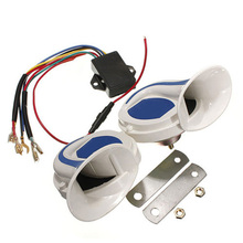 1 Pair 12V 120DB 20 Sounds Digital Electric Siren Loud Air Snail Horn For Car Truck Motorcycle Yacht Boat DXY88