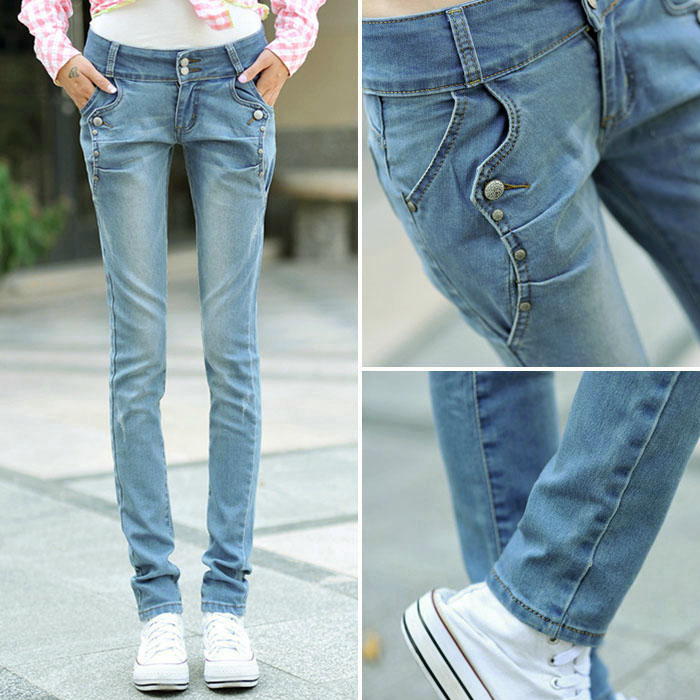Aliexpress.com : Buy Free shipping Jeans women plus size 26 32 ...