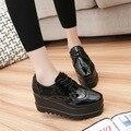 2016 Nueva Llegada de Venta Caliente de La Manera de Las Mujeres Zapatos Casuales de Tacón Alto de Cuña Bizcocho Zapatos de Moda Envío Gratis