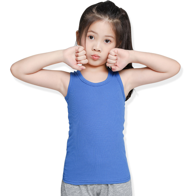 SheeCute 2-pack chindren Sleeveless T Shirt girls boys Undershirts Tank Top A Shirt 0932 2