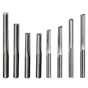 Image 2 - Doppel edged gerade slot fräser CNC maschine werkzeug 2 Flöte Fräser Hartmetall 4/6mm bits für Schneiden