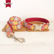 Red Bohemia Dog Leash Collar Lead Dog Puppy Walking Running Leashes Training Rope Belt For Small Medium Large Dogs Pet Supplies