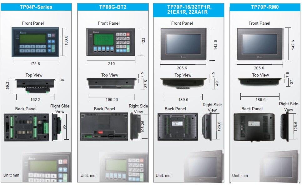TP04P-32TP1R painel de texto hmi com plc embutido novo na caixa