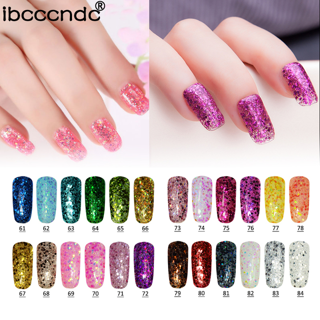 24 Colors Shining Uv Gelpolish Diamond Glitter Powder Sequins Led Nail Gel Polish Art Design