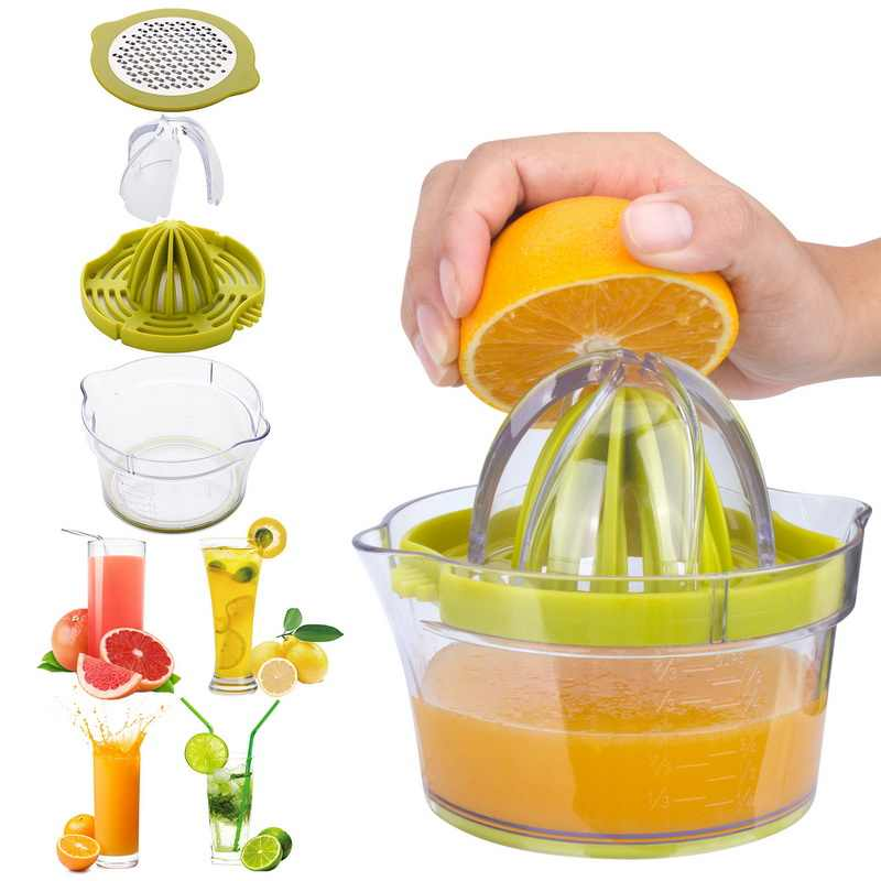 High Quality Plastic Manual Juicer Juice Squeeze Tool Household Manual Juicer Squeezer  Citrus Juicer