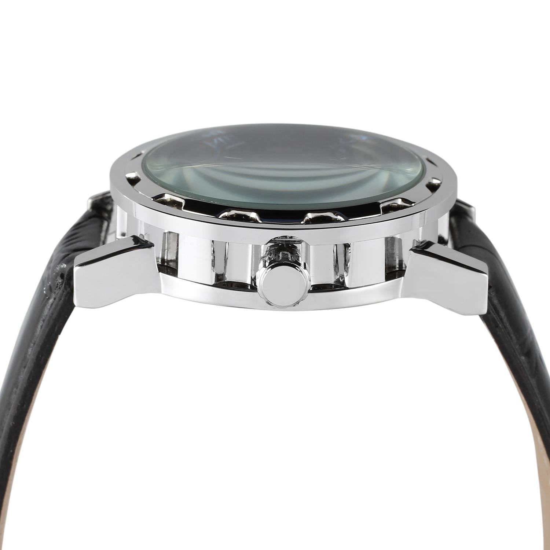 Relógio vencedor prata e preto superfície algarismos