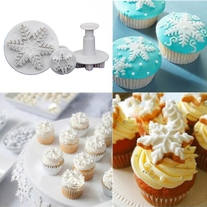Free shipping high quality 3 pcs snowflake Plunger Cutter ...