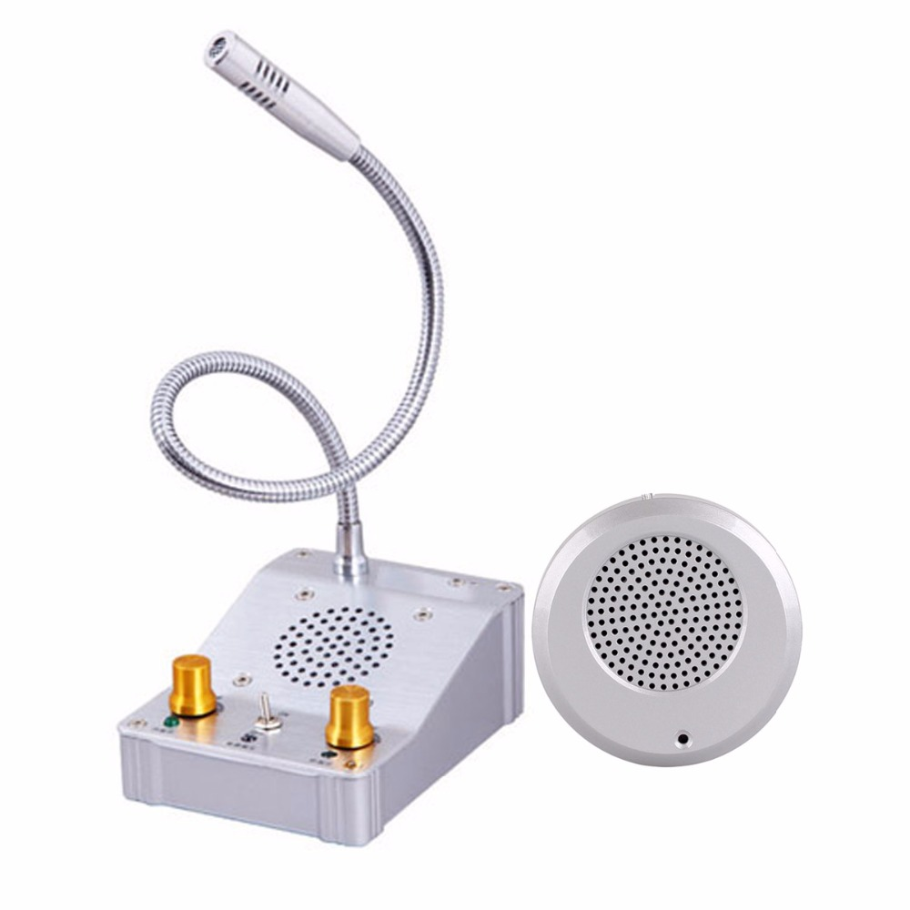 Dual-way Window Intercom Counter Calling System with External Speaker+Host for Bank Hospital Calling System F3331D wireless restaurant calling system 5pcs of waiter wrist watch pager w 20pcs of table buzzer for service